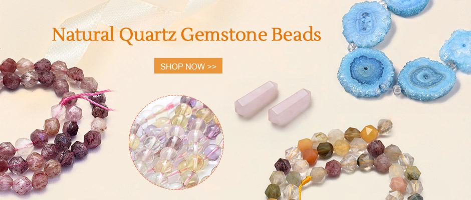 Natural Quartz Gemstone Beads Shop Now