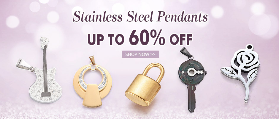 Stainless Steel Pendants Up to 60% OFF
