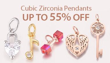 Cubic Zirconia Pendants Up to 55% OFF
