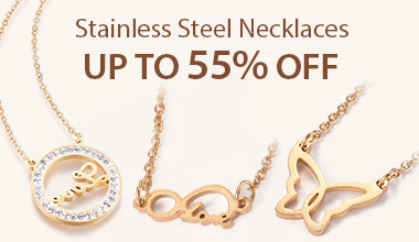Stainless Steel Necklaces Up to 55% OFF