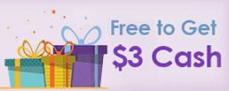 Free $3 Cash