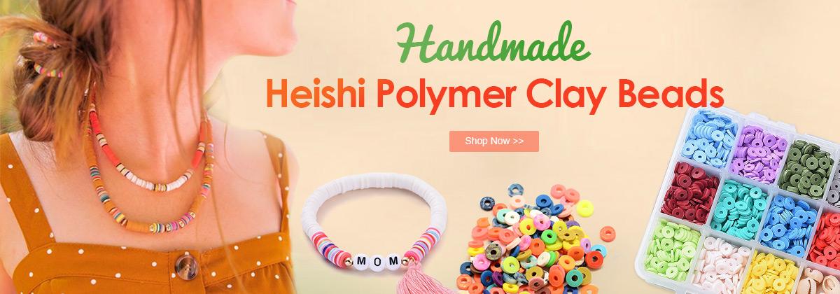 Heishi Polymer Clay Beads
