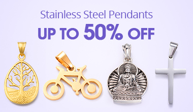 Stainless Steel Pendants Up to 50% OFF