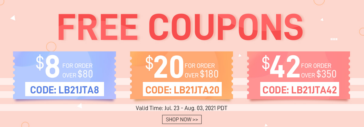 FREE COUPONS Valid Time: Jul. 23 - Aug. 03, 2021 PDT