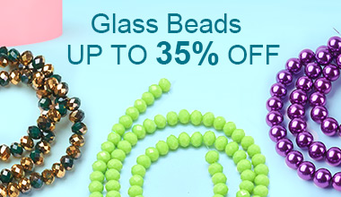 Glass Beads Up to 35% OFF