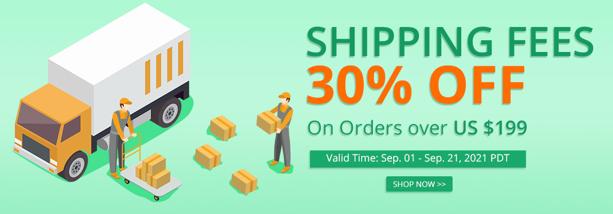 Shipping Fees 30% OFF