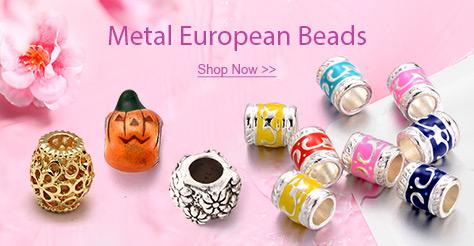 Metal European Beads