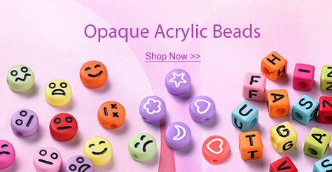 Opaque Acrylic Beads