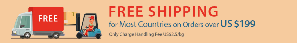 FREE SHIPPING For Most Countries on Orders over US $199
