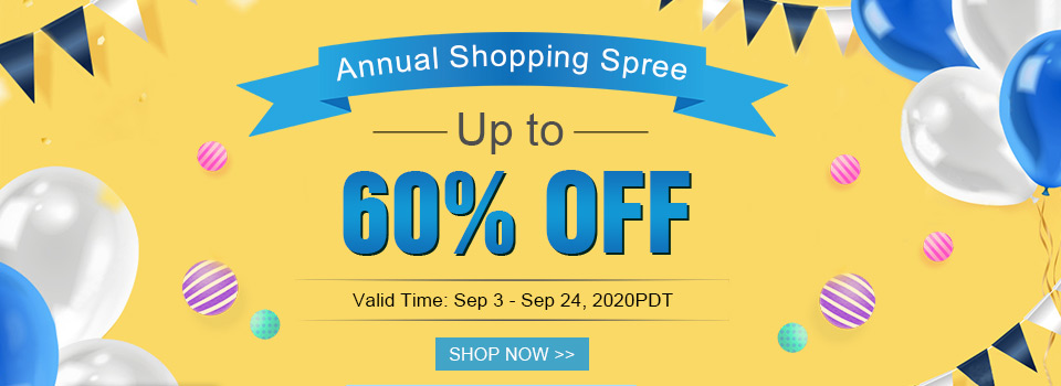 Annual Shopping Spree Up to 60% OFF