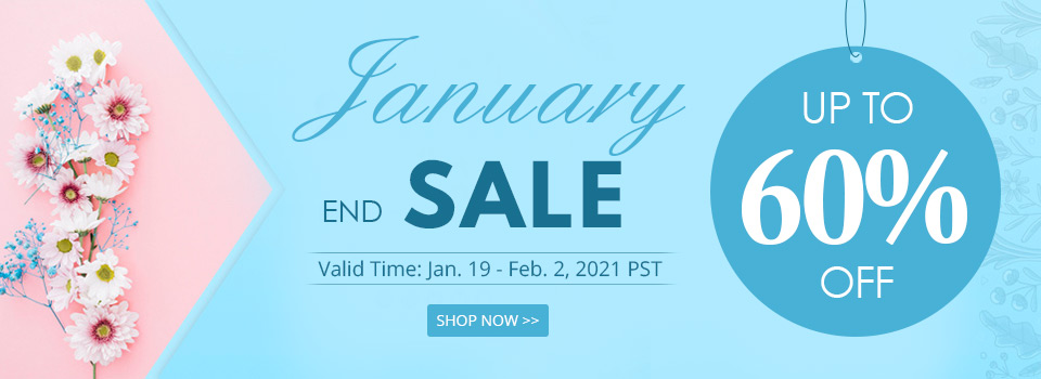 January End Sale Up to 60% OFF