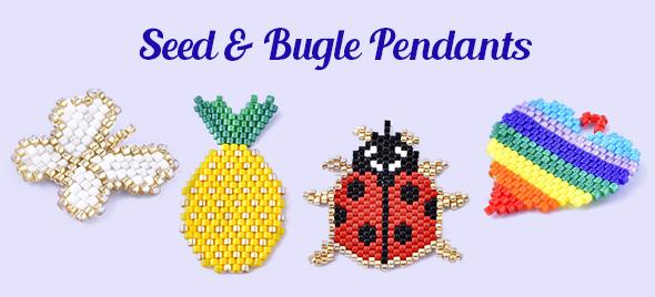 Seed & Bugle Pendants