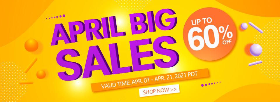 April Big Sales Up to 60% OFF