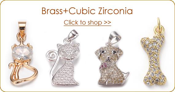 Brass+Cubic Zirconia