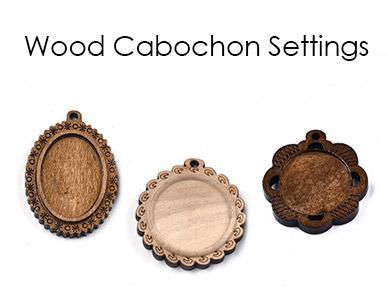 Wood Cabochon Settings