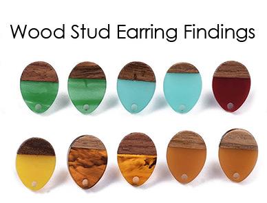 Wood Stud Earring Findings
