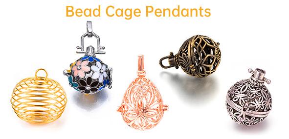 Bead Cage Pendants